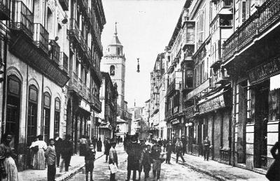 Calle de la Constitución, en Valladolid, en una imagen procedente de valladolidantiguo.es